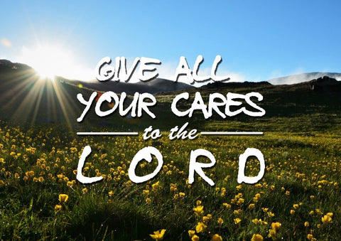 Image of Give all your cares to the Lord Wall Art Canvas Print