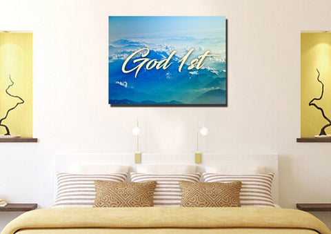Image of God 1st Christian Quotes Wall Art Canvas
