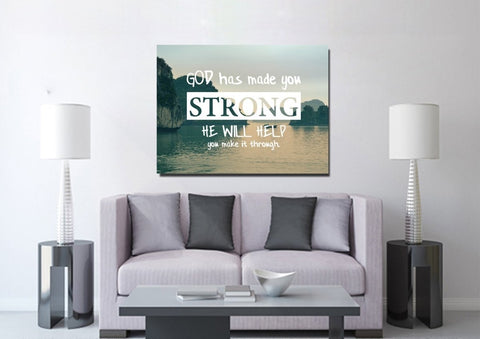 Image of God has made you strong Wall Art Canvas Print