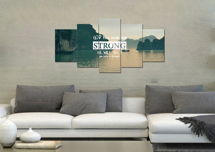 God has made you strong Wall Art Canvas Print
