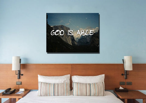 God is Able Wall Art Canvas Print