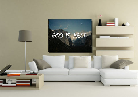 Image of God is Able Wall Art Canvas Print