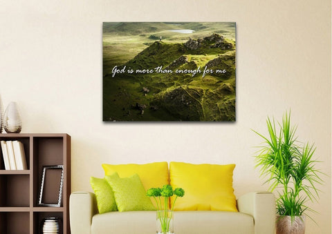 God is more than enough for me Wall Art Canvas Print