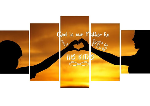 Image of God is our Father He Loves His Kids Wall Art Canvas Print
