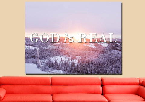God is Real Wall Art Canvas Print