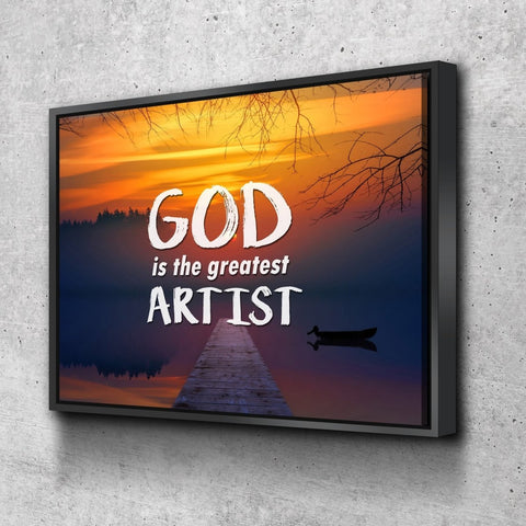 Image of God is the greatest artist Christian Quotes Wall Art Canvas