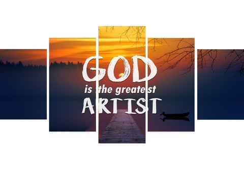 God is the greatest artist Christian Quotes Wall Art Canvas