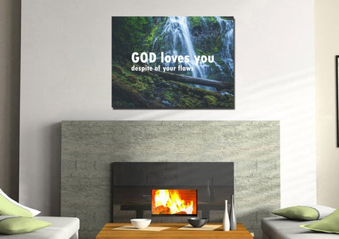 God loves you despite of your flaws Wall Art Canvas Print