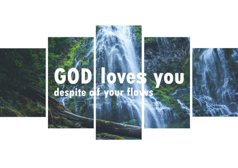 Image of God loves you despite of your flaws Wall Art Canvas Print