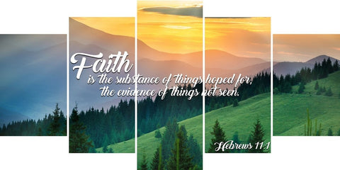 Hebrews 11:1 KJV Faith is the Substance of Things Bible Verse Wall Art Canvas