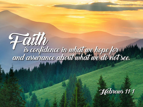 Hebrews 11:1 NIV Faith is Confidence Bible Verse Wall Art Canvas