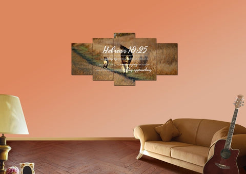 Image of Hebrews 10:25 Encouraging One Another Wall Art Canvas Print