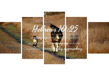 Hebrews 10:25 Encouraging One Another Wall Art Canvas Print