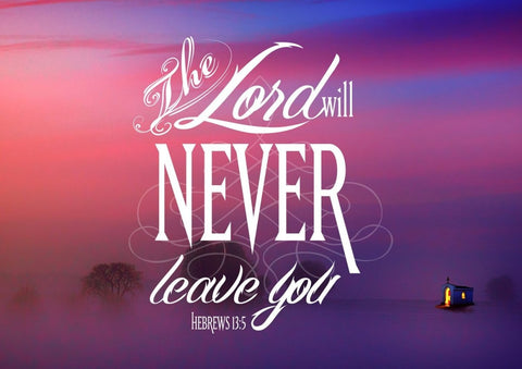 Hebrews 13:5 The Lord will Never Leave you Bible Verse Canvas Wall Art