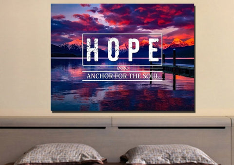 Hope Anchor for the Soul Wall Art Canvas Print