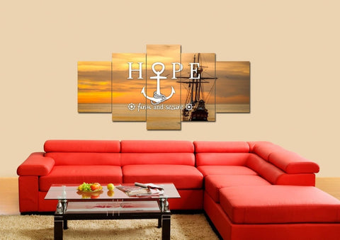 Hope Firm and Secure Wall Art Canvas Print