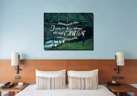 Image of I can do all things Through Christ Wall Art Canvas Print