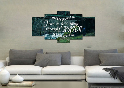 I can do all things Through Christ Wall Art Canvas Print