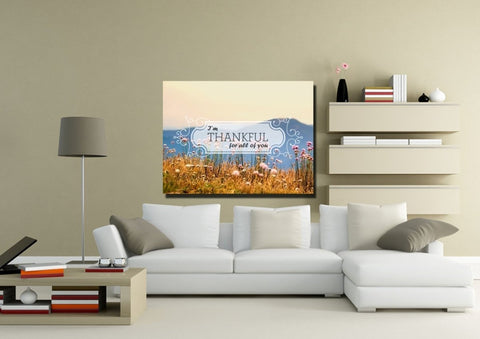 I'm Thankful for all of you Wall Art Canvas Print