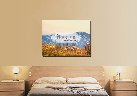 Image of I'm Thankful for all of you Wall Art Canvas Print