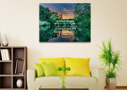 Isaiah 26:3 Wall Art Canvas Print