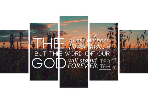 Image of Isaiah 40:8 Word of God Will Stand Forever Canvas Wall Art Print