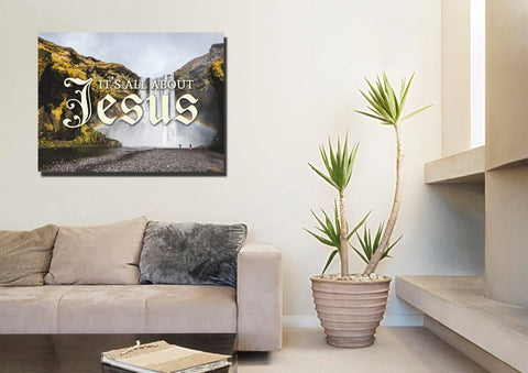 It's all about Jesus Christian Quotes Wall Art Canvas