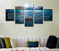 Jeremiah 29:11 #3 For I Know the Plans I Have For You Bible Verse on Multi Panel Canvas Wall Art