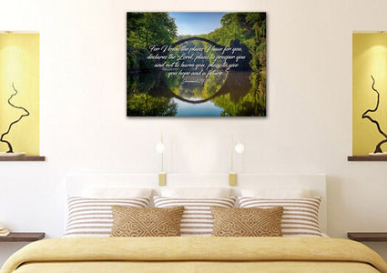 Jeremiah 29:11 For I know the Plans I have for you declares the Lord Bible Verse Canvas Wall Art