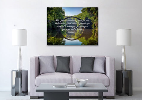 Image of Jeremiah 29:11 For I know the Plans I have for you declares the Lord Bible Verse Canvas Wall Art