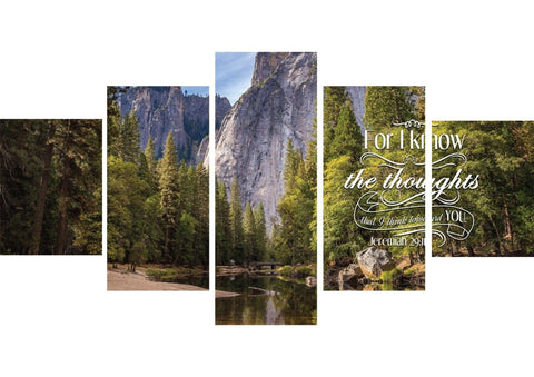 Jeremiah 29:11 KJV #1 Bible Verse Canvas Wall Art