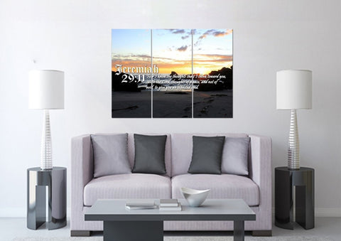 Image of Jeremiah 29:11 KJV #10 Bible Verse Canvas Wall Art