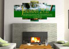 Jeremiah 29:11 KJV #11 Bible Verse Canvas Wall Art