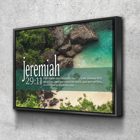Jeremiah 29:11 KJV #12 Bible Verse Canvas Wall Art