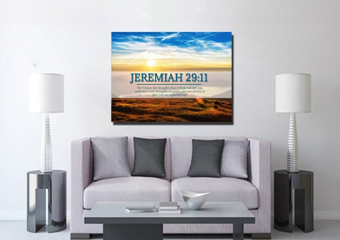 Jeremiah 29:11 KJV #13 Bible Verse Canvas Wall Art