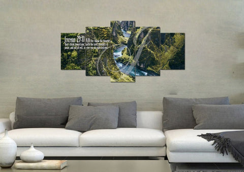 Image of Jeremiah 29:11 KJV #14 Bible Verse Canvas Wall Art