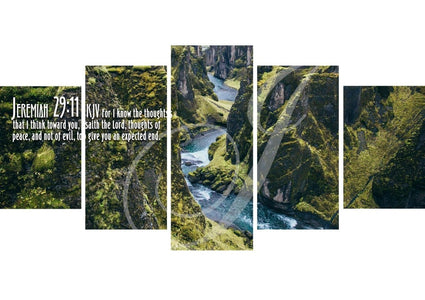 Jeremiah 29:11 KJV #14 Bible Verse Canvas Wall Art