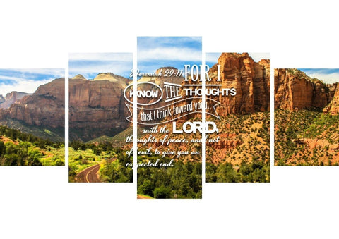 Image of Jeremiah 29:11 KJV #3 Bible Verse Canvas Wall Art