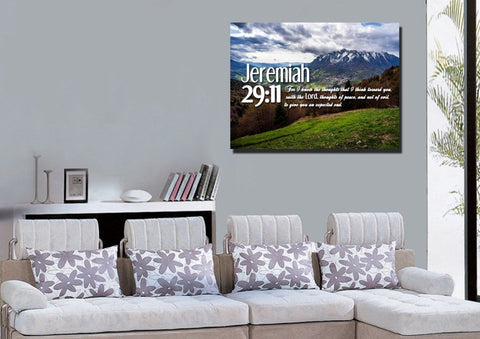 Jeremiah 29:11 KJV #5 Bible Verse Canvas Wall Art