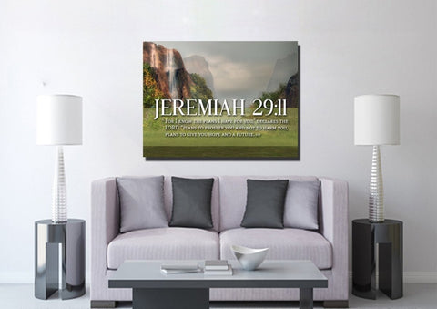 Jeremiah 29:11 KJV #6 Bible Verse Canvas Wall Art