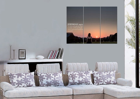 Jeremiah 29:11 KJV #7 Bible Verse Canvas Wall Art