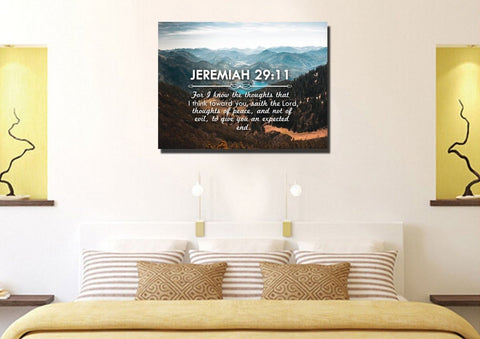 Jeremiah 29:11 KJV #9 Bible Verse Canvas Wall Art