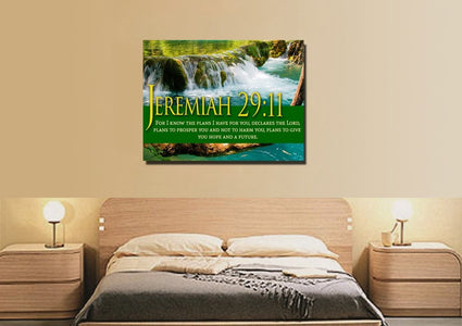 Jeremiah 29:11 NIV #11 Bible Verse Canvas Wall Art