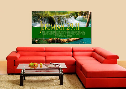 Image of Jeremiah 29:11 NIV #11 Bible Verse Canvas Wall Art