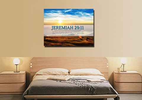 Jeremiah 29:11 NIV #13 Bible Verse Canvas Wall Art