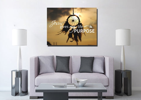 Image of Jesus Give my Life Purpose Wall Art Canvas Print