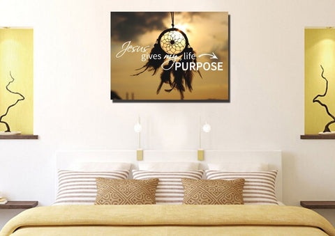 Jesus Give my Life Purpose Wall Art Canvas Print
