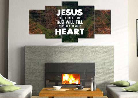 Image of Jesus will Fill your Heart Wall Art Canvas Print