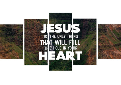 Jesus will Fill your Heart Wall Art Canvas Print