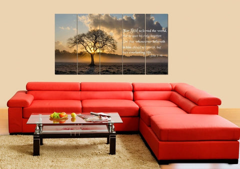 John 3:16 KJV #11 Bible Verse Canvas Wall Art